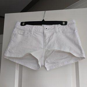 Guess White Jean Shorts